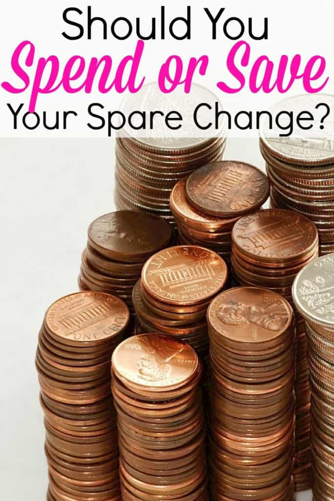 Should I spend or save my spare change?