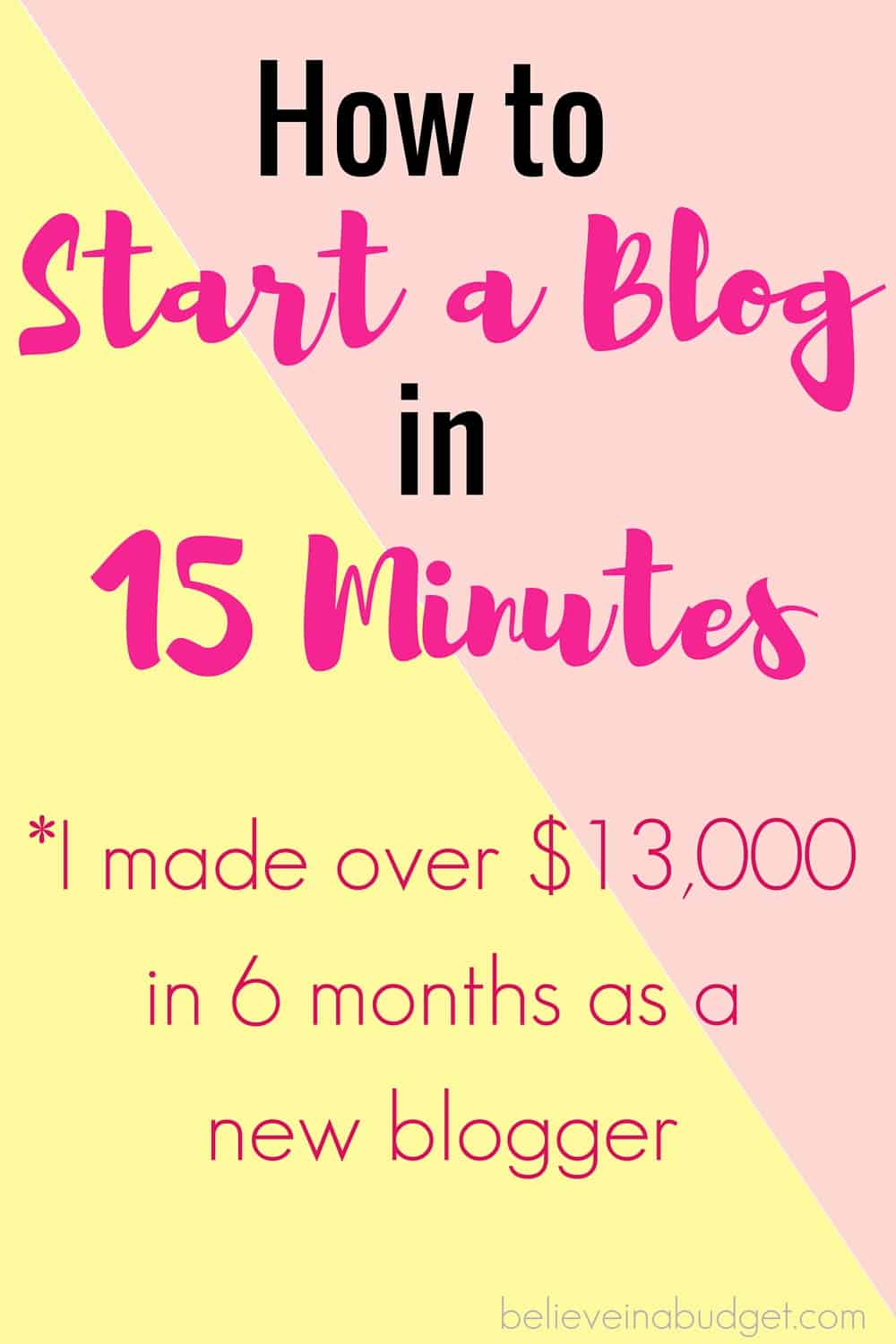 Learn how to start a blog today! Starting a blog is the best side hustle I have ever done to earn extra money! I was able to set up and start a blog for really cheap and then I made over $13,000 in less than six months as a new blogger.