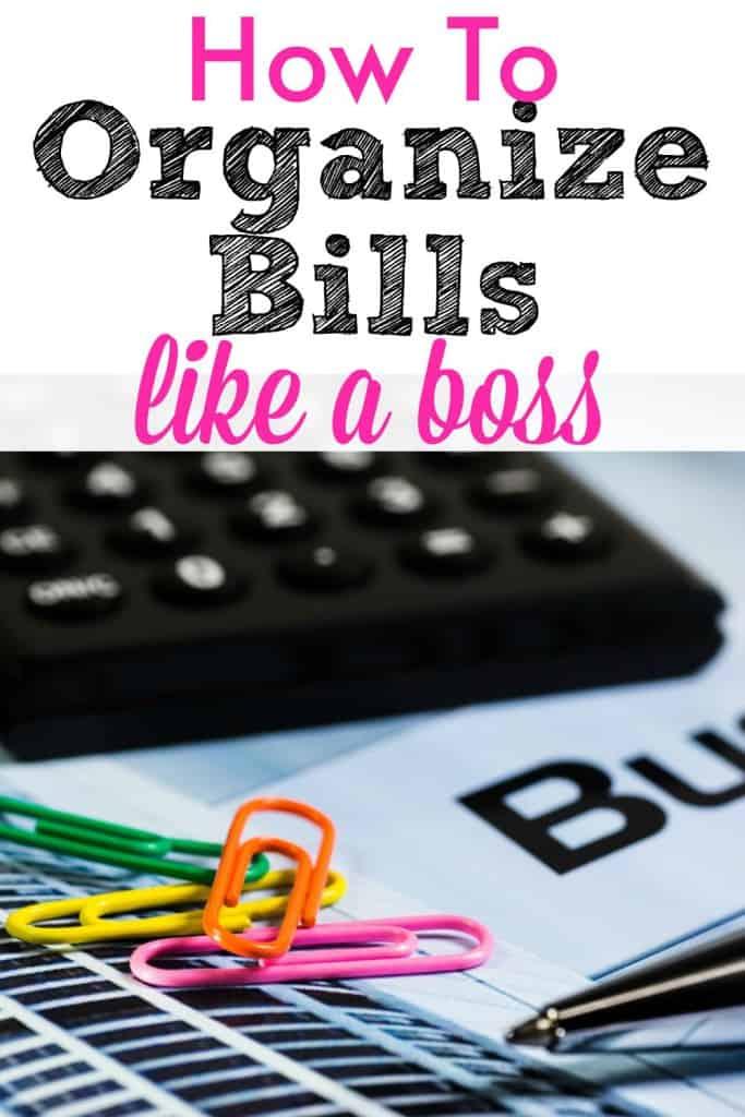 How to organize bills to get organized!