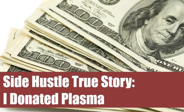 Side hustle by donating plasma