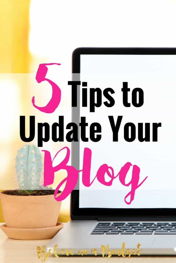 When it comes to blogging, there are so many blogging tips out there! One important blogging tip is how important your blog's appearance is. You should update your blog periodically, sort of like a makeover! Here are 5 tips to update your blog.