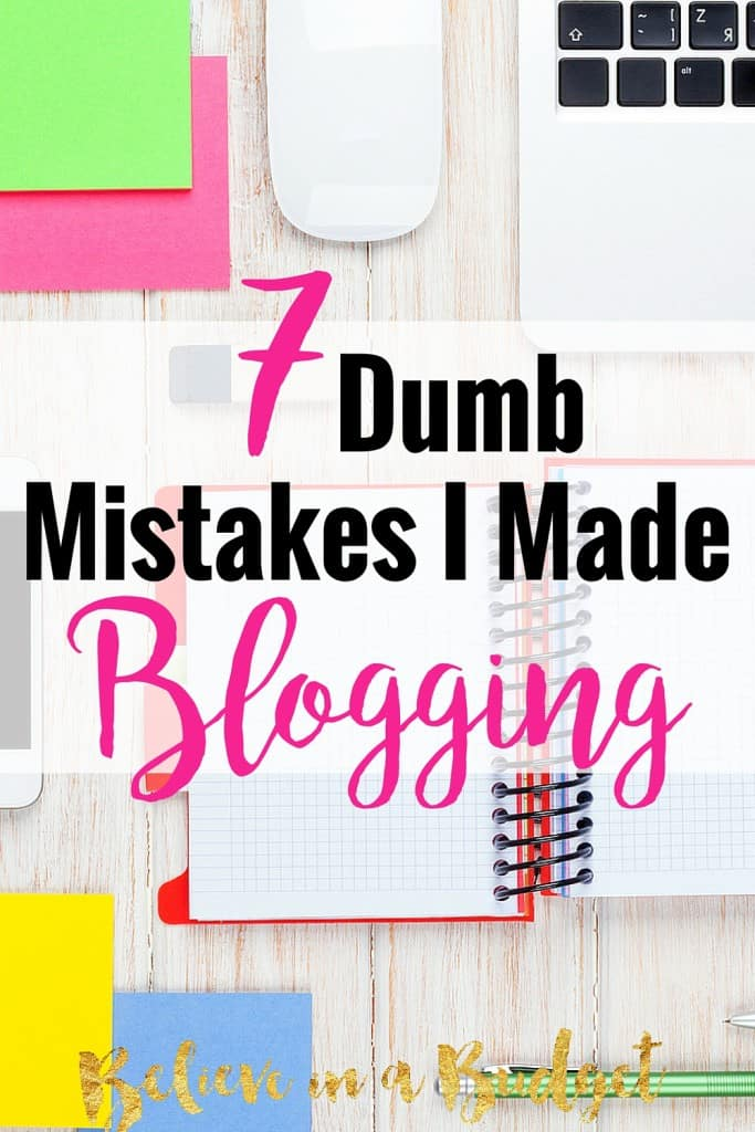 When this girl started her blog, she had no idea what she was doing. She's sharing all these different ways she could have made her blog better. If you want to have a blog, don't make these blogging mistakes!