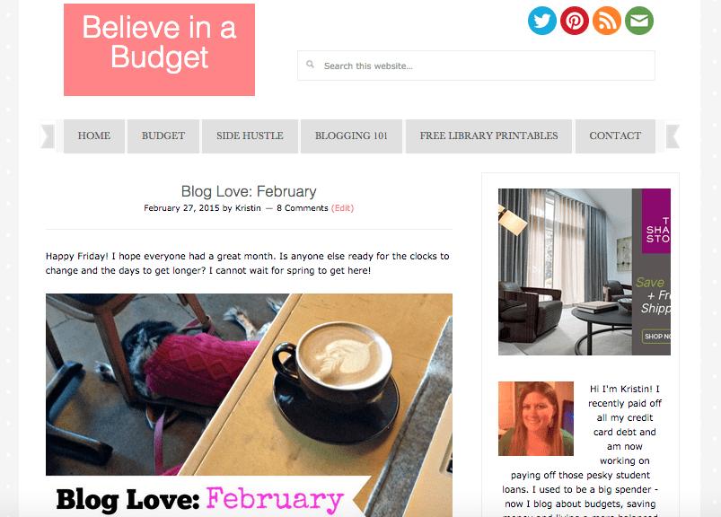 New Believe in a Budget Website