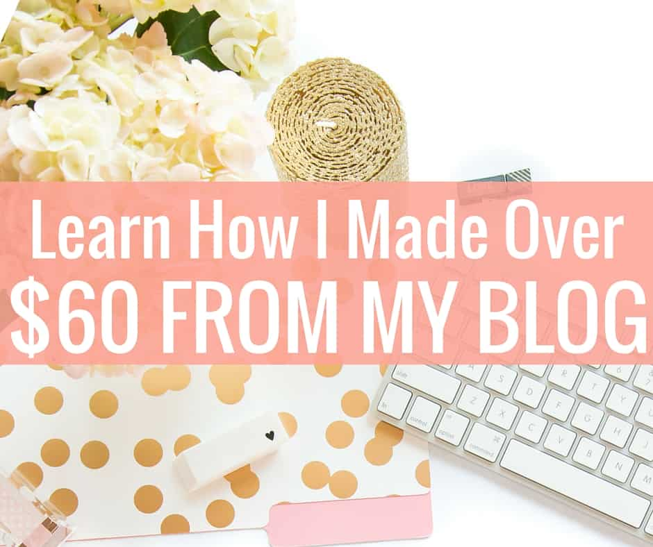 My First Blog Income Report