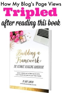 My small blog tripled in size after I read Build A Framework. I also implemented smart strategies, like how to monetize and earn income.