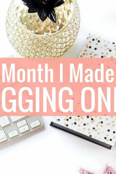 In my second month, I made over $60 from blogging online. Here's how I did it!
