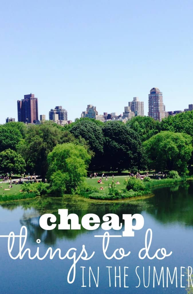 Cheap things To Do In The Summer