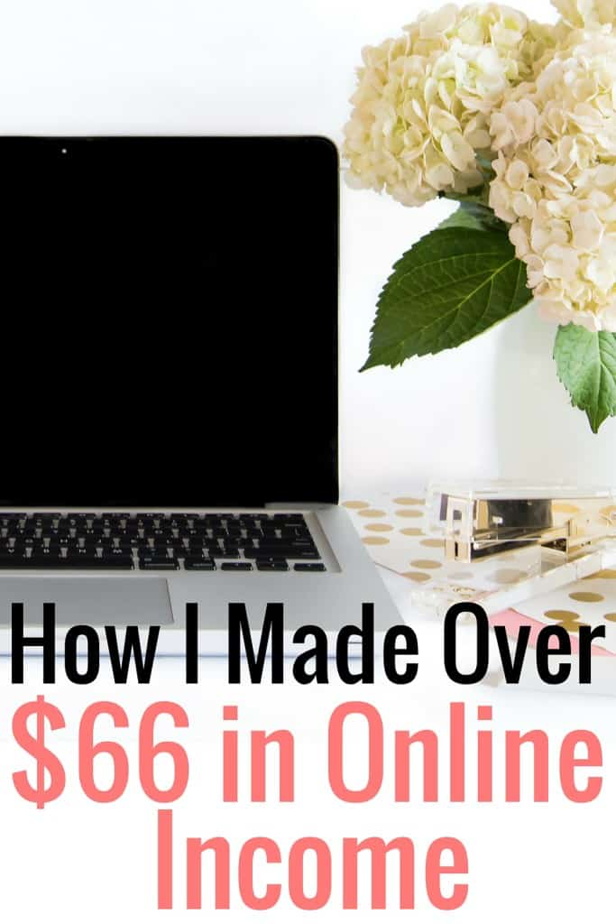 This is my third online income report. Last month I made over $66 from my blog. Here's how I did it!