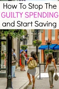 Learn how to stop guilty spending and feeling bad about this. Instead, here's a few ways to stop this bad habit and actually start saving money!