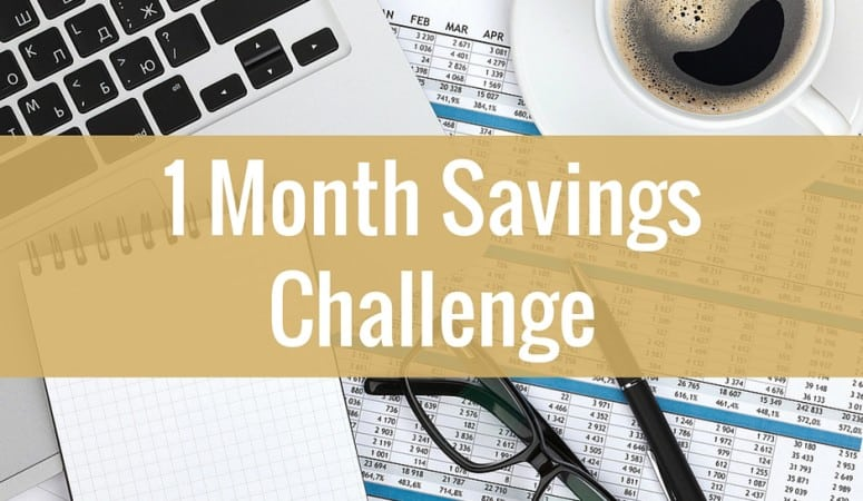 One Month Savings Challenge
