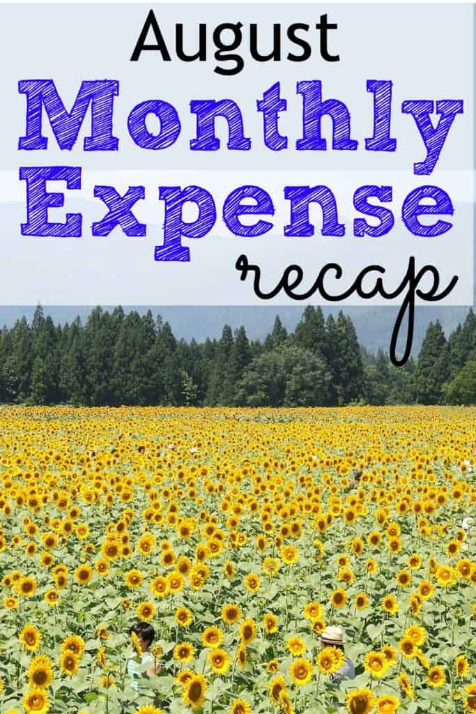August Monthly Expense Recap 2015