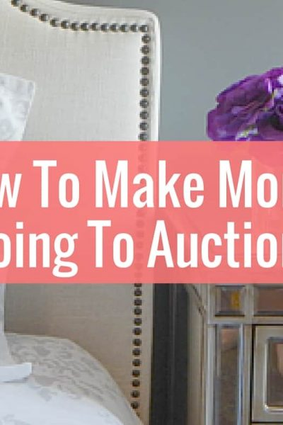 Learn how to side hustle and make money by going to auctions. This is a great way to make money!
