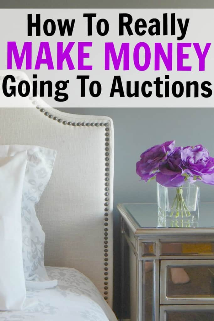 One of the best side hustles is attending auctions and reselling items! Learn how to find auctions and what happens when you attend. This is a great (and fun!) way to make money.