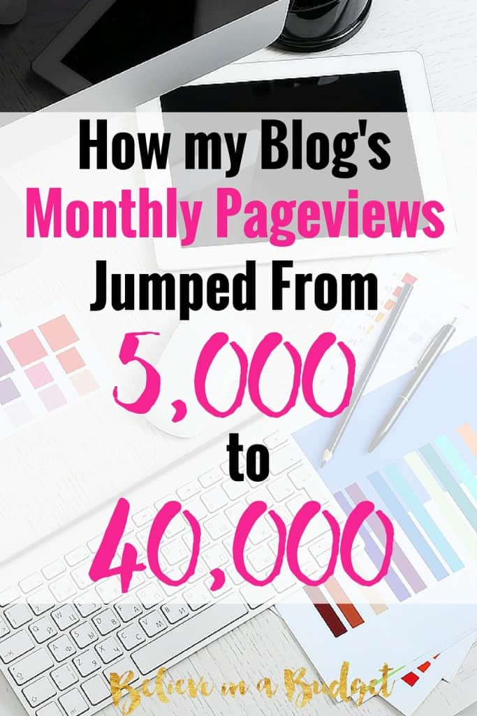 As a blogger, I have been working hard to increase my blog pageviews. I was able to achieve this increase in blog traffic pretty quickly! Here are all the ways I was able to grow my new blog!
