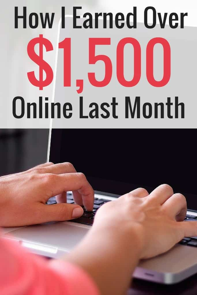 It's time for another online income report! Last month I earned more than $1,500 online! I have been blogging for around a year. I break down all the different areas I earned money last month.