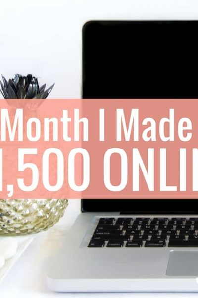 Last month I made over $1,500 from online income. Each month I like to share my monthly online income report on how I made money and where it came from.