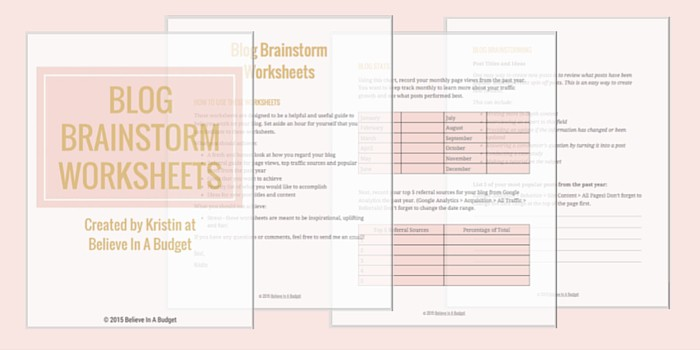 Blog Worksheets Signup