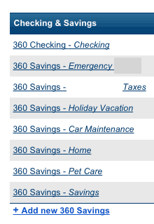 Checking and savings