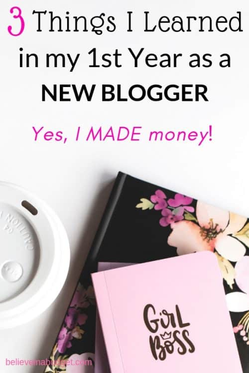 These are the top three things I learned in my first year of blogging. If you are a new blogger, these are major tips to help you start a blog and make money.