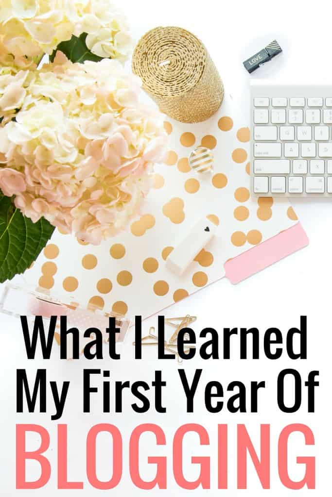 I'm sharing what I learned after one year of blogging. I'm also sharing my page views, my number one source of referral traffic and my top three tips for blogging.