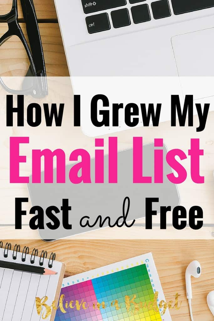 As a new blogger, I was really at a loss on the importance of creating an email list and why I needed one. I wasn't selling any products, so why did I need one? It turns out you do! I grew my list in 4 months by doing 1 thing in a totally non-icky way. Here's how I grew my email list!