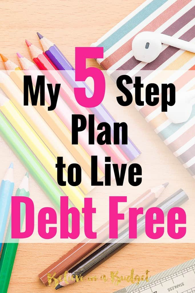 There are so many reasons to get out debt. I'm sharing how I plan to get out of debt in these five steps.