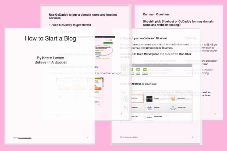 Start a Blog Sample