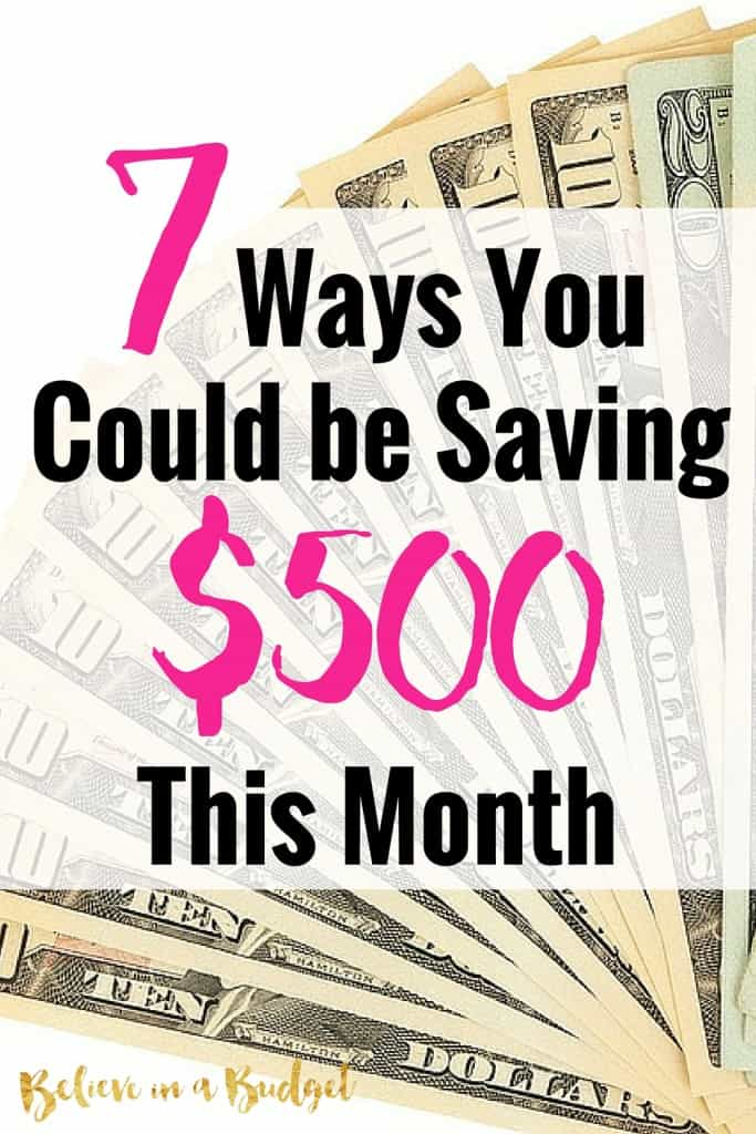 Want to learn how to save $500 right now? There are so many different ways you can save money this month. I'm sharing 7 things I did to save money that were really easy to do. If you want to make more money, some of these tips will also really help you. Don't worry - none of these are crazy or unrealistic!