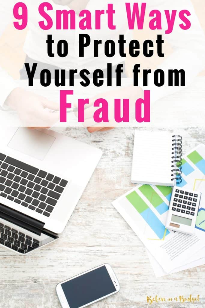 One of the biggest things I worry about is protecting my personal and business information. Here are 9 smart tips to protect yourself against fraud and someone stealing your identity! #ad