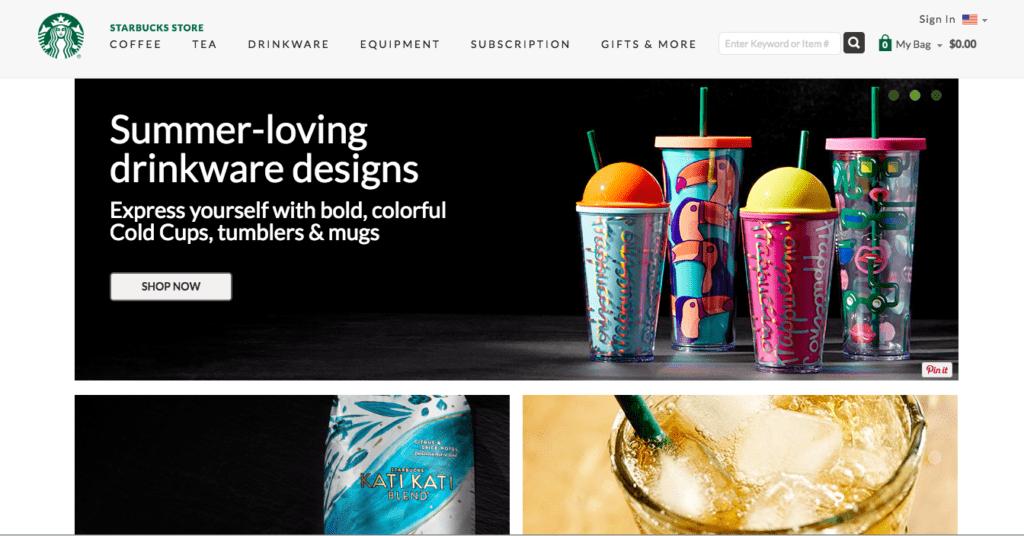 Starbux homepage