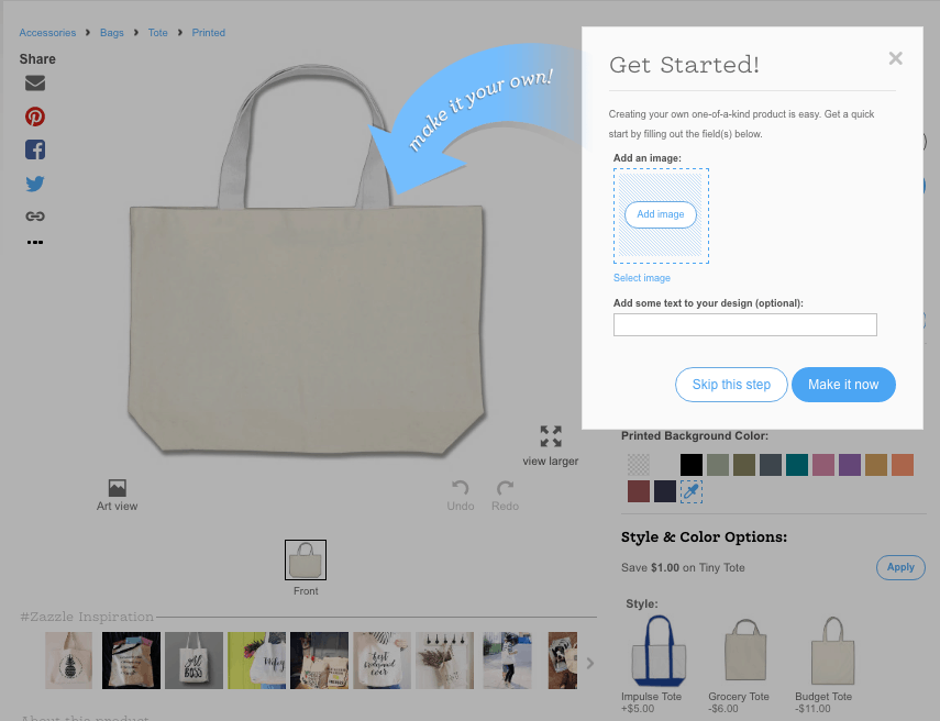 Zazzle Tote Bag Design