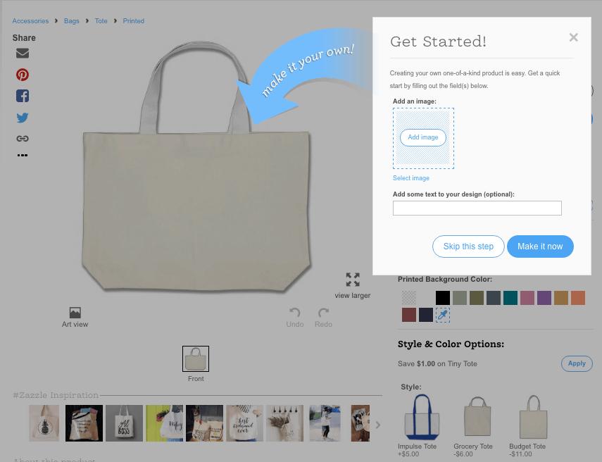 Zazzle Tote Bag Design