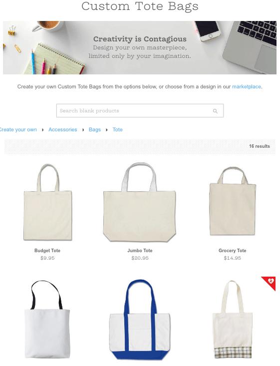 Zazzle tote bags