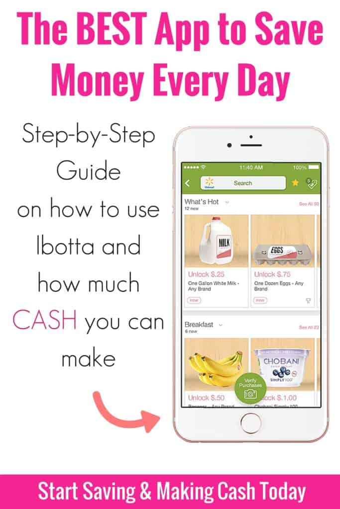 If you want to save money and earn cash back, Ibotta is the best free cell phone app. I use this app to save money at the grocery store, Target, going out to eat and tons of other places. This post shows you how much cash you can earn back and how to use the app.