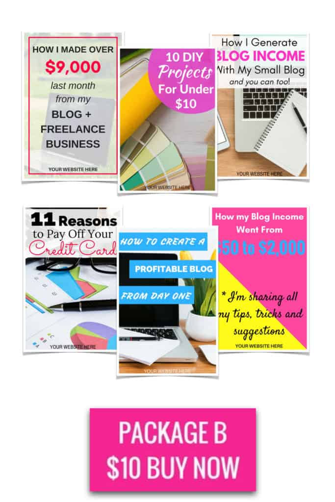 Pinterest Pin Templates Package B