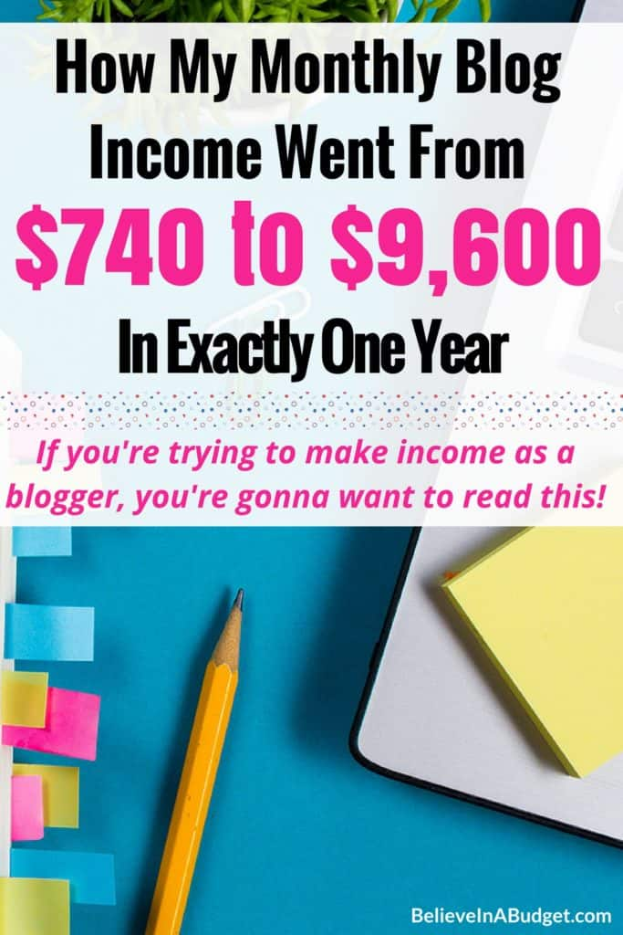 Last month I made over $9,600 from my blog, which is crazy! I'm sharing my entire journey of blogging and how much my blog income has changed in one year. If you are thinking about starting a blog or are not sure how to increase your blog income, learn how I changed my strategy to increase my blog income.