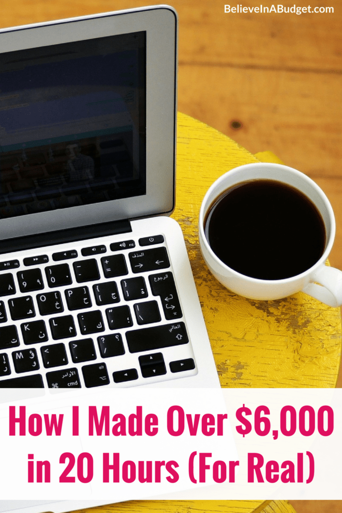 Last month I made over $6,000 in online income. If you want to make extra money to get out of debt or to try to save money, starting a blog will help you achieve this! After working hard, I was able to make over $6,000 in online income while barely working!