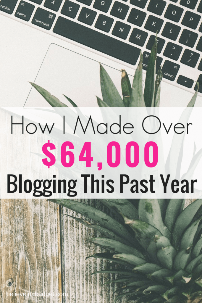 How I made a full time living blogging in 1 year. This was my first full year blogging.