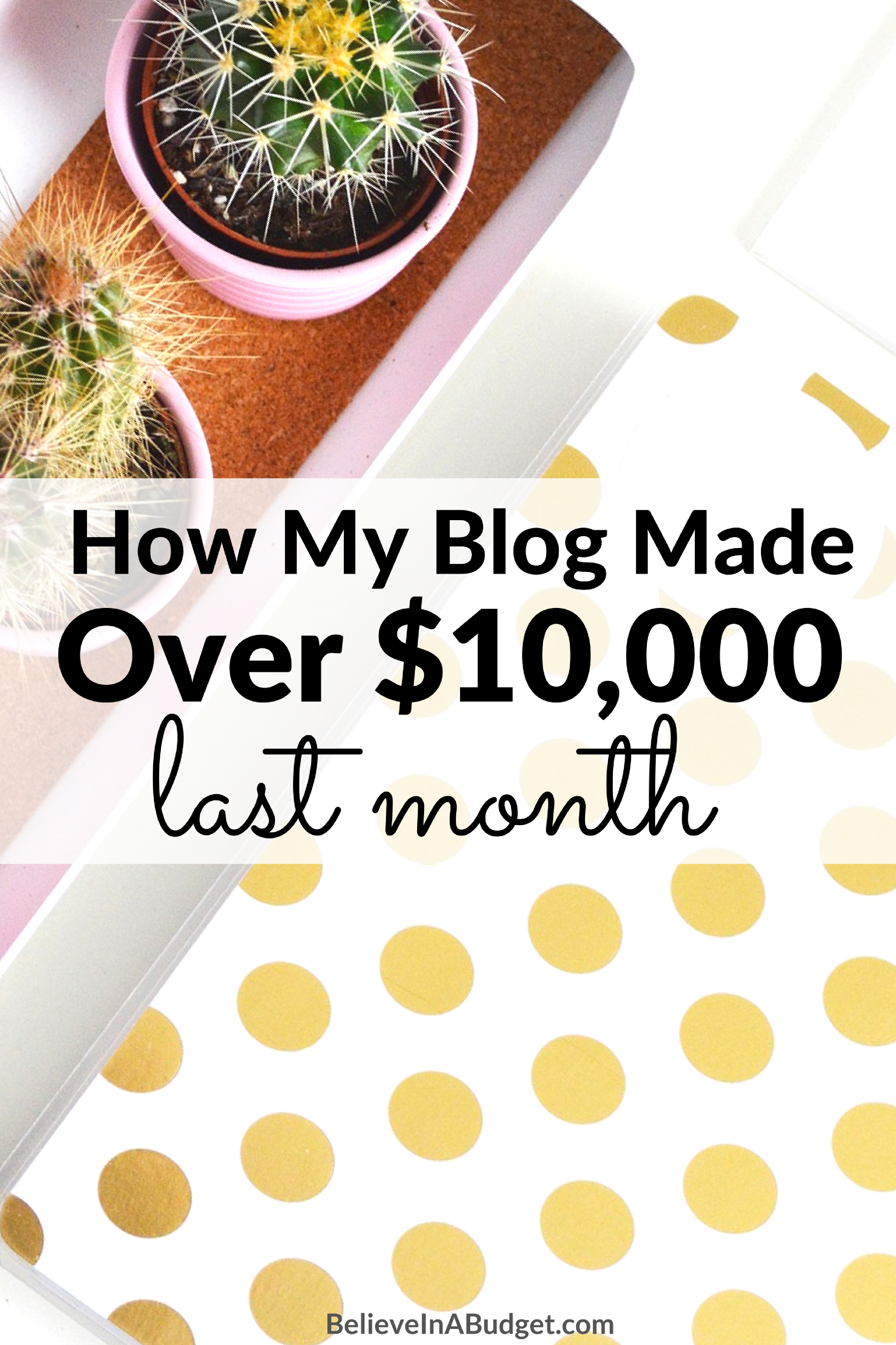 I've been a full time blogger for 13 months. I finally made over $10,000 from my blog while working from home. Here's how I make a full time living working from home and having a blog!