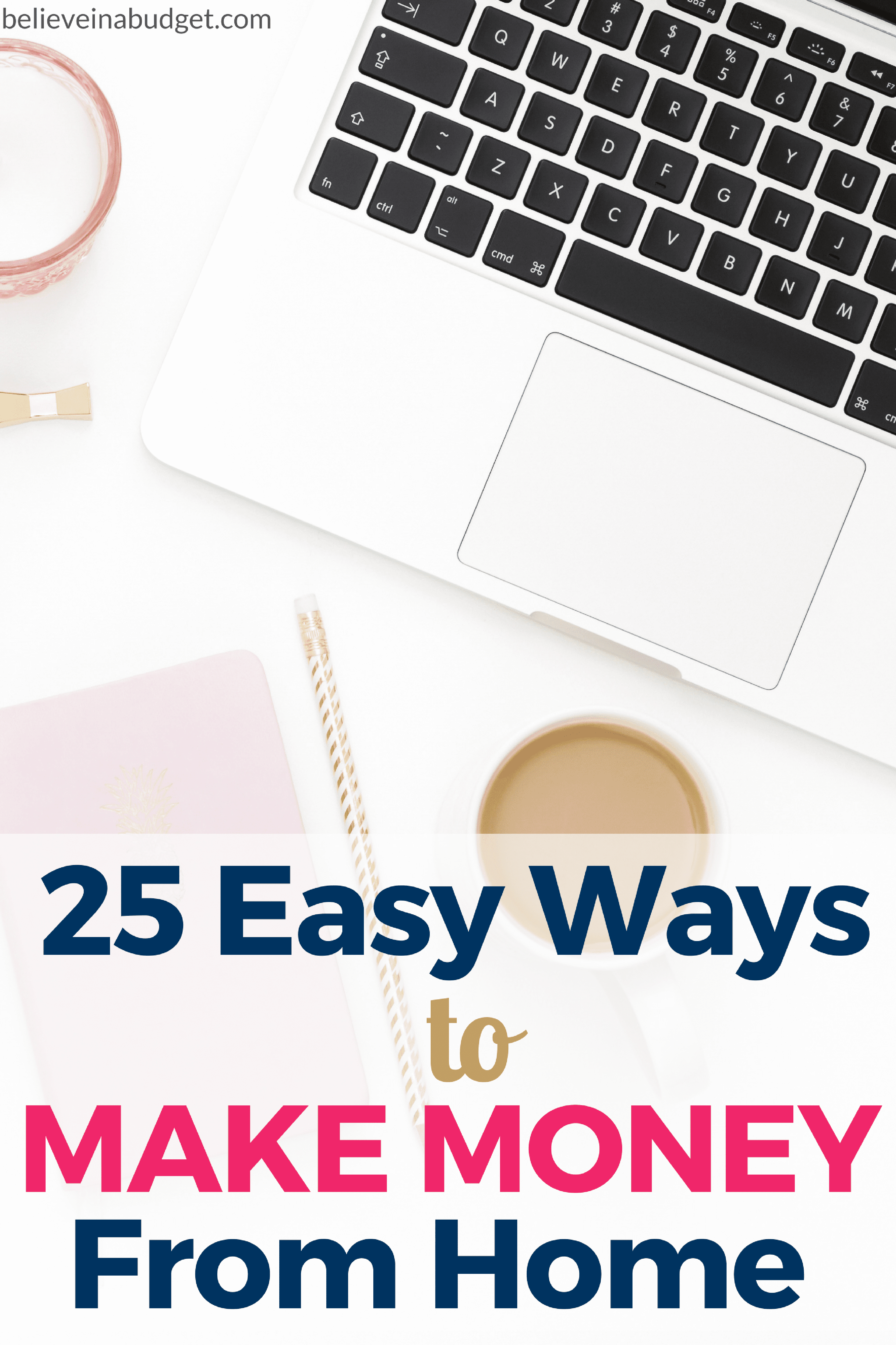 If you want to side hustle to make extra money, here are 25 easy ways to make money from home. As long as you have a computer and internet, you can start a side hustle today. I have tried most of these side hustles and made THOUSANDS of dollars over the past few years.