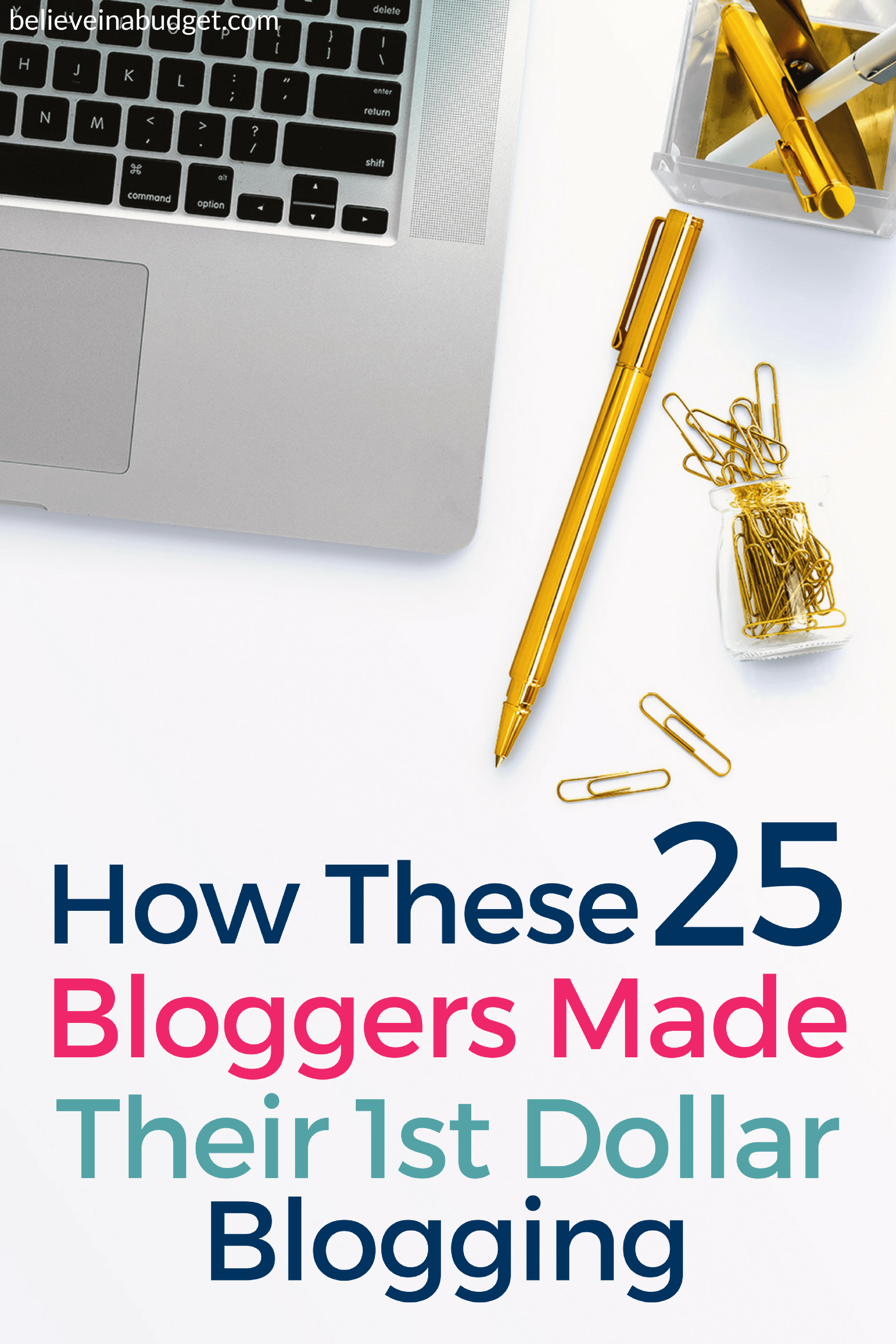 Have you ever thought about starting a blog to make money? Learn how these 25 bloggers made money from blogging. They are sharing their very first income report and how they made their first dollar!