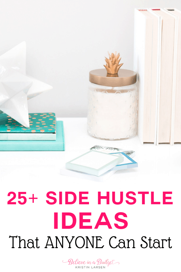 Here is a list of over 25 side hustle ideas you can start today to help you make extra money and get out of debt.