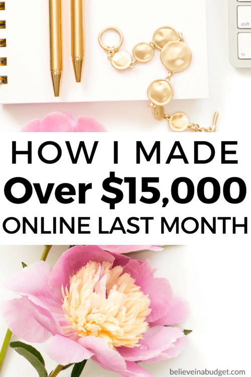 When I first learned how to start a blog, I didn't make any money from my blog for four months. Finally, I made my first $60 after four months. Now, nearly two years later, I am still going strong! Last month I made over $15,000 online. Here is my latest online income report!