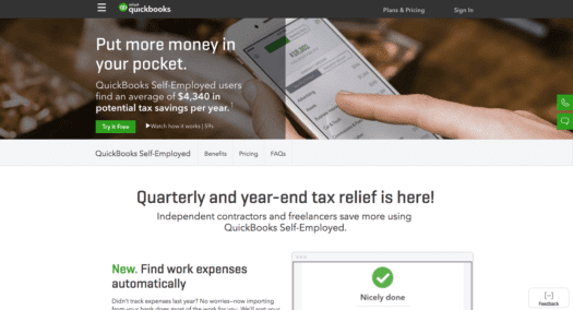 Quickbooks Self-Employed Helps Simplify Taxes - Believe In A