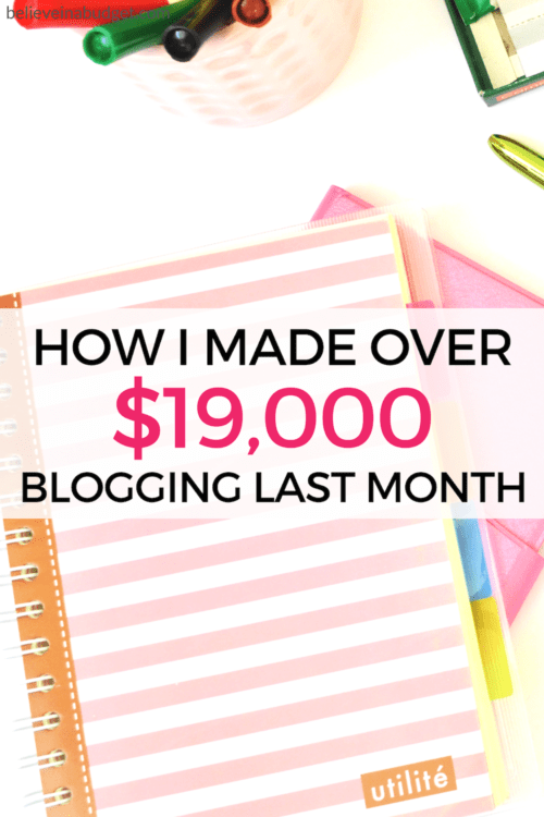 Learn how to make money online! Blogging started out as a side hustle. It's now my favorite way to make a full time living. Click now to read my latest online income report!