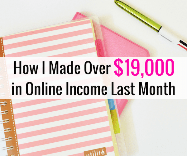 March Online Income Report