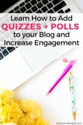 One way to increase email subscribers and opt-ins is to use quizzes, polls and giveaways. Learn how to create a quiz and poll for your blog readers (tutorial)
