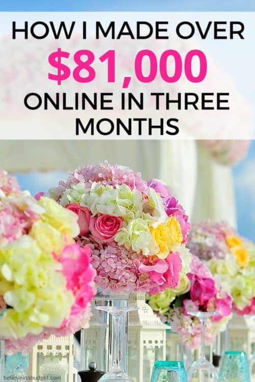 Start a blog as a side hustle! This is my recent online income reoprt. Learn how I made over $81,000 in only three months online!