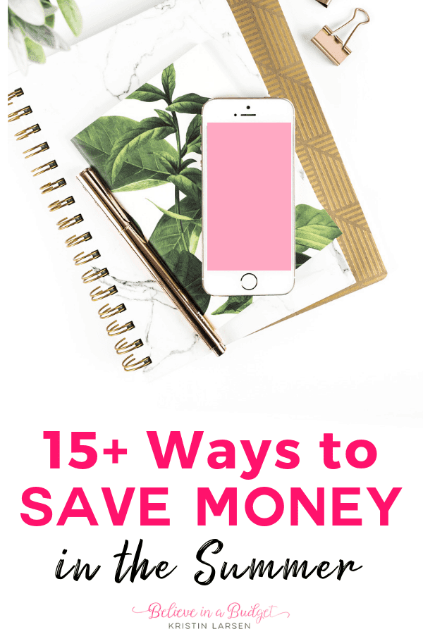 Here are fifteen ways to save money this summer if you want to get out of debt, reduce spending and create a better budget!