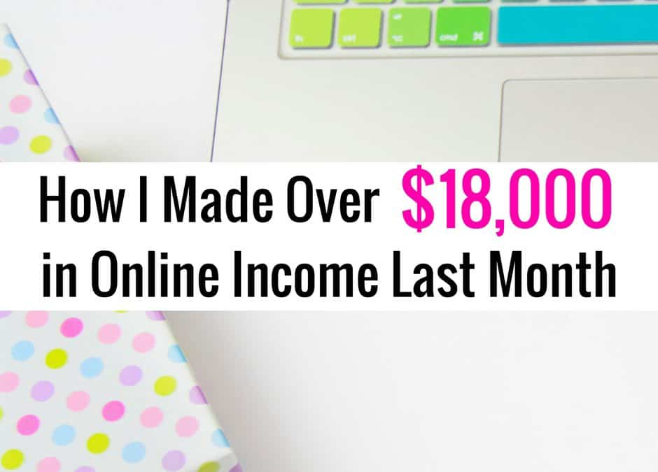 August Online Income Report